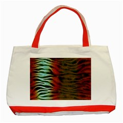 Earthy Zebra Classic Tote Bag (Red)