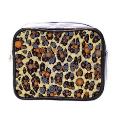 Cheetah Abstract Mini Travel Toiletry Bag (one Side)