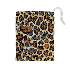 Cheetah Abstract Drawstring Pouch (Large)