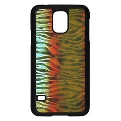 Earthy Zebra Samsung Galaxy S5 Case (black)