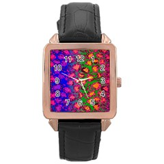 Florescent Cheetah Rose Gold Leather Watch