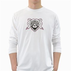 7 Gates Graffix Men s Long Sleeve T-shirt (White)