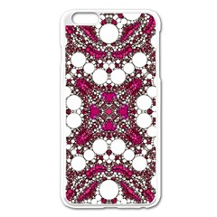 Pink Pearl Apple iPhone 6 Plus Enamel White Case