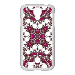 Pink Pearl Samsung GALAXY S4 I9500/ I9505 Case (White)