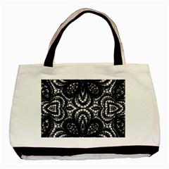 Twisted Zebra  Twin-sided Black Tote Bag
