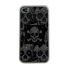 Skulls Dipped In Bling Apple Iphone 4 Case (clear)