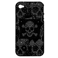 Skulls Dipped In Bling Apple Iphone 4/4s Hardshell Case (pc+silicone)