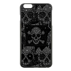 Skulls Dipped In Bling Apple Iphone 6 Plus Black Enamel Case