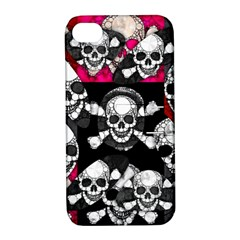 Metal Bling Skulls  Apple Iphone 4/4s Hardshell Case With Stand
