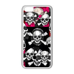 Metal Bling Skulls  Apple iPhone 5C Seamless Case (White)