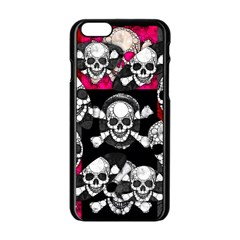 Metal Bling Skulls  Apple Iphone 6 Black Enamel Case