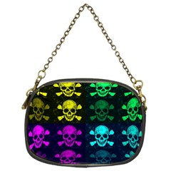 Rainbow Skulls Chain Purse (two Sided)