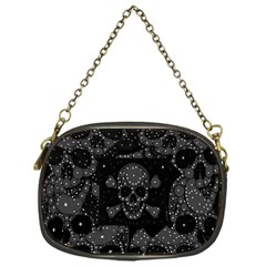 Skulls Dipped In Bling Chain Purse (one Side)