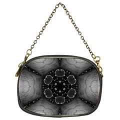 Black Marshmallow  Chain Purse (two Sided)