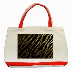 Gold Zebra  Classic Tote Bag (Red)