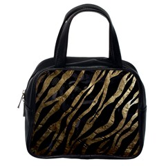 Gold Zebra  Classic Handbag (one Side)