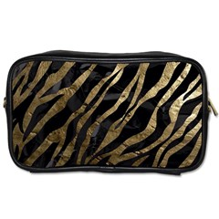 Gold Zebra  Travel Toiletry Bag (two Sides)