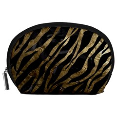 Gold Zebra  Accessory Pouch (Large)
