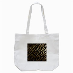 Gold Zebra  Tote Bag (White)