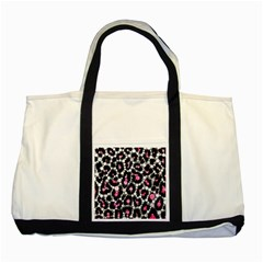 Pink Cheetah Bling Two Toned Tote Bag