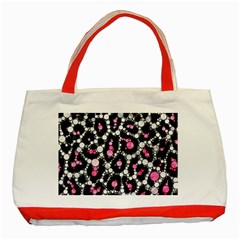 Pink Cheetah Bling Classic Tote Bag (Red)