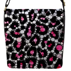 Pink Cheetah Bling Flap Closure Messenger Bag (small)