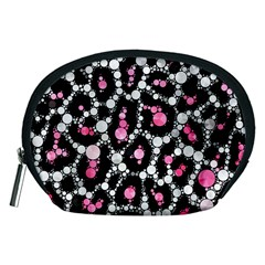 Pink Cheetah Bling Accessory Pouch (Medium)