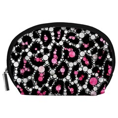 Pink Cheetah Bling Accessory Pouch (Large)