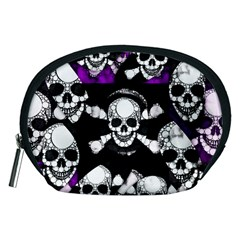 Purple Haze Skull And Crossbones  Accessory Pouch (medium)
