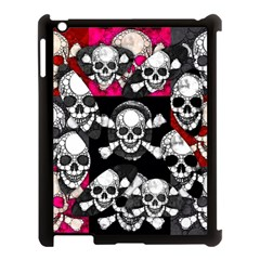 Pink Skull Bling Apple Ipad 3/4 Case (black)