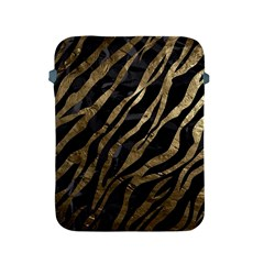 Gold Zebra  Apple Ipad Protective Sleeve