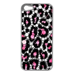 Pink Cheetah Bling Apple Iphone 5 Case (silver)