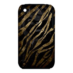 Gold Zebra  Apple iPhone 3G/3GS Hardshell Case (PC+Silicone)
