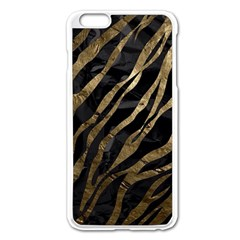 Gold Zebra  Apple iPhone 6 Plus Enamel White Case