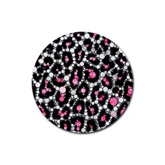 Pink Cheetah Bling Drink Coasters 4 Pack (round)