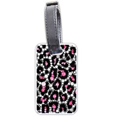 Pink Cheetah Bling Luggage Tag (one Side)