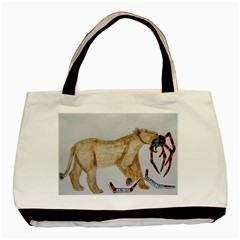 Giant Spider Fights Lion  Classic Tote Bag