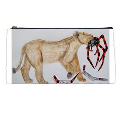 Giant Spider Fights Lion  Pencil Case