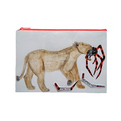 Giant Spider Fights Lion  Cosmetic Bag (large)