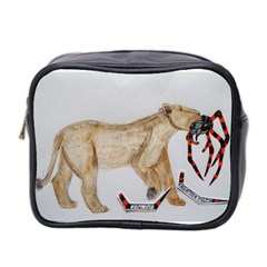 Giant Spider Fights Lion  Mini Travel Toiletry Bag (two Sides)