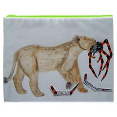 Giant Spider Fights Lion  Cosmetic Bag (XXXL)
