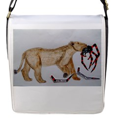Giant Spider Fights Lion  Flap Closure Messenger Bag (small)
