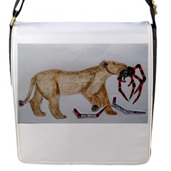 Giant Spider Fights Lion  Removable Flap Cover (Small)