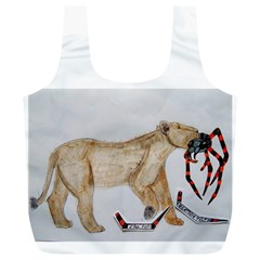 Giant Spider Fights Lion  Reusable Bag (XL)