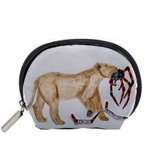 Giant Spider Fights Lion  Accessory Pouch (small)