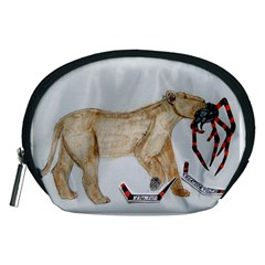 Giant Spider Fights Lion  Accessory Pouch (Medium)