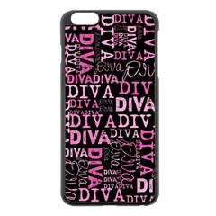 Diva  Apple iPhone 6 Plus Black Enamel Case