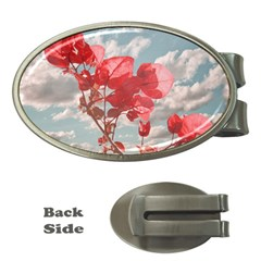 Flowers In The Sky Money Clip (Oval)
