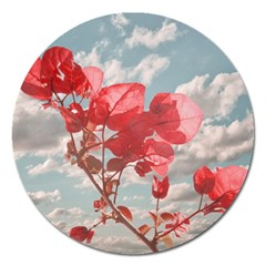 Flowers In The Sky Magnet 5  (round)