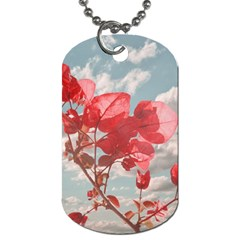 Flowers In The Sky Dog Tag (two Sided)
